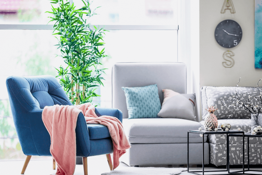 The choice of interior elements  for the living room