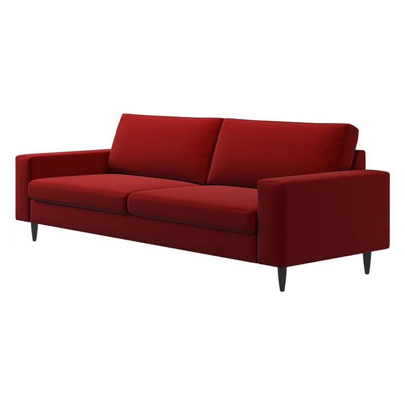 Furniture shop layout | Wide red 2 seater sofa