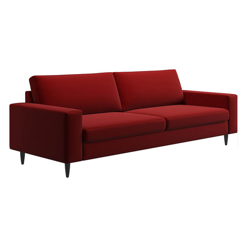 Wide Red 2 Seater Sofa